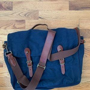 J crew blue Abingdon messenger bag